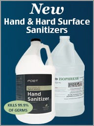 Hand and Hard Surface Sanitizers
