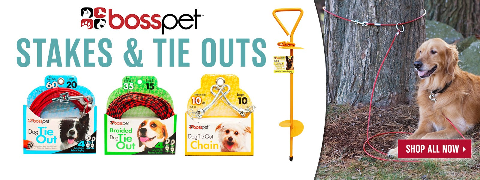 Boss Pet Tie Out Section Kit
