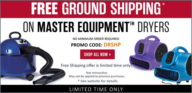 Free Shipping on Master Equipment Dryers! See details.