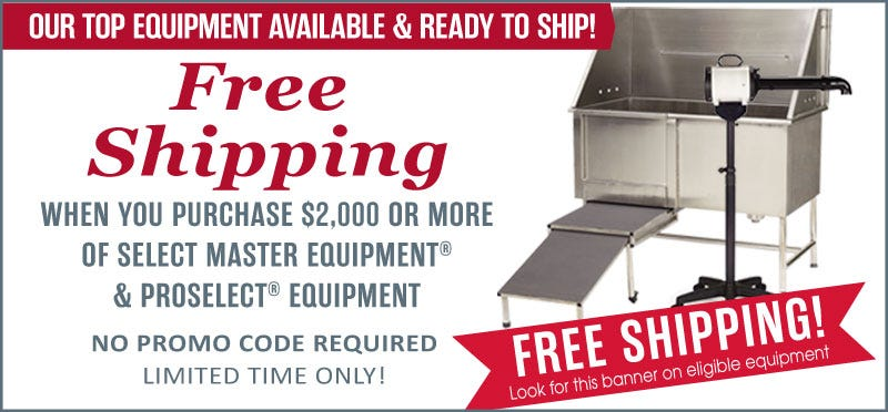 Free Shipping on Master Equipment and ProSelect Equipment. See Details.